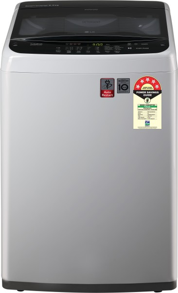 LG 6.5 Kg Fully Automatic Top Load Washing Machine (T65SPSF2Z, Silver)