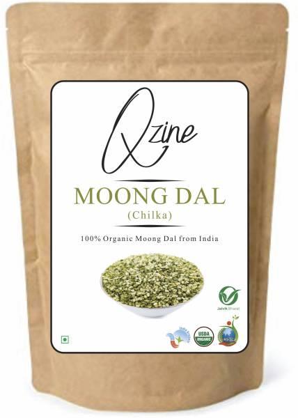 Qzine Chilka Moong Dal (Green, 500GM)