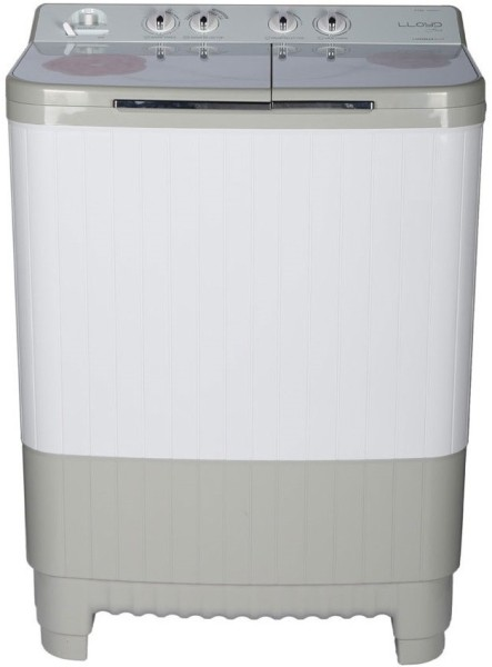 Lloyd 9 kg Semi Automatic Top Load Washing Machine (LWMS90HT1, White & Grey)