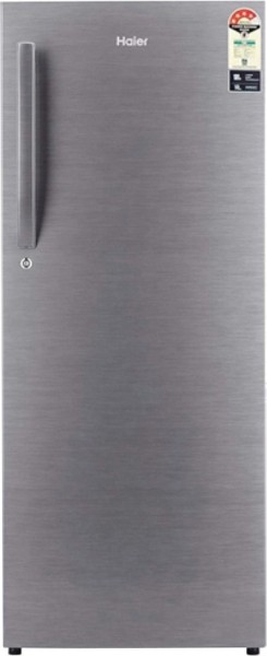 Haier 220 L Direct Cool Single Door 3 Star Refrigerator (HRD-2203BS-E, Brushline Silver)