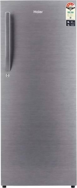 Haier 220 L Direct Cool Single Door 3 Star Refrigerator (HRD-2203BS-E, Brushline Silver)