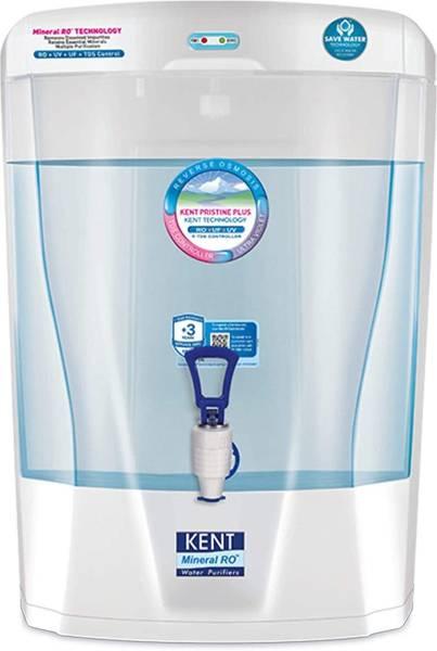 Kent Pristine Plus 8L RO+UV+UF+TDS Water Purifier (White)