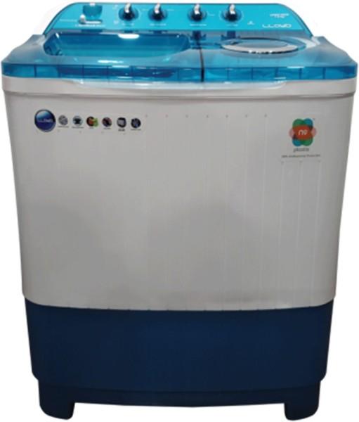 Lloyd 7.5 kg Semi Automatic Top Load Washing Machine (LWMS75BDB, White & Blue)