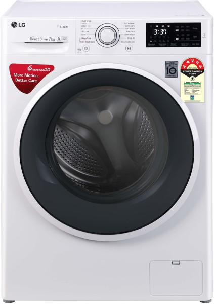 LG 7 kg Fully Automatic Front Load Washing Machine (FHT1007ZNW, White)