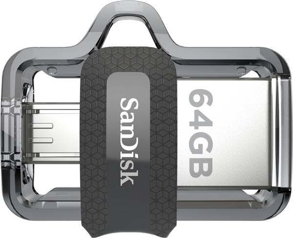 SanDisk Ultra Dual USB 3.0 64GB Pen Drive (Silver)
