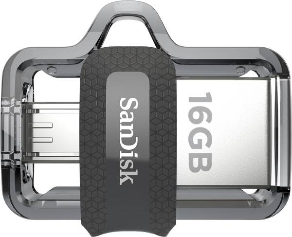 SanDisk Ultra Dual USB 3.0 16GB Pen Drive (Silver)