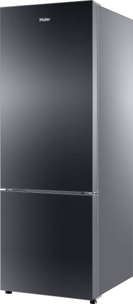 Haier 345 L Frost Free Double Door 3 Star Refrigerator (HRB365PKGR, Glass Black)