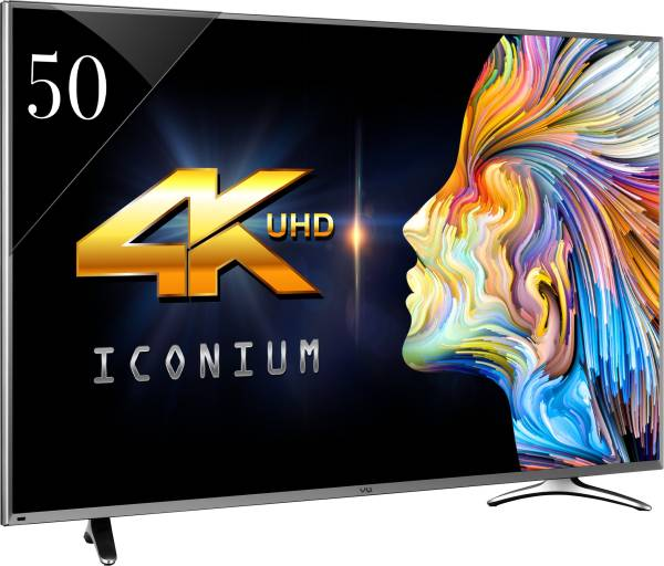 Vu 50 Inches Ultra HD (4K) LED Smart TV (LEDN50K310X3D, Black)