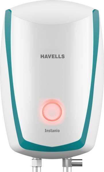 Havells 3L Instant Water Geyser (Instanio, White & Blue)