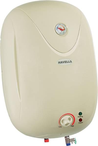 Havells 15L Storage Water Geyser (Puro, White & Silver)