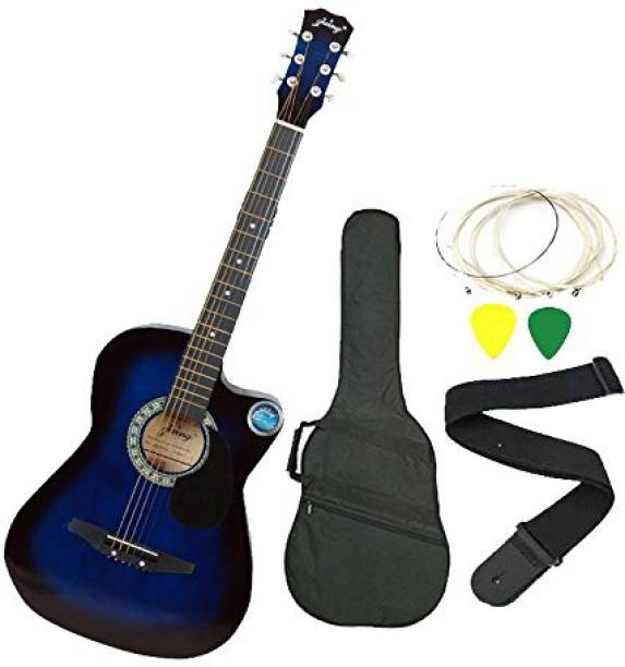 JIXING DD-380C-BLU Linden Wood Acoustic Guitar
