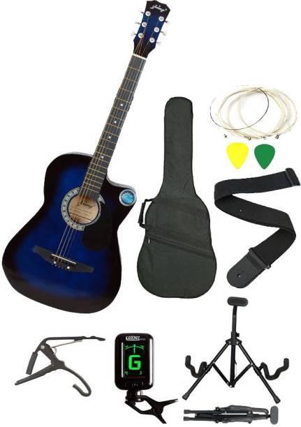 JIXING JXNG-BLU-SC Acoustic Guitar Linden Wood Maple Right Hand Orientation