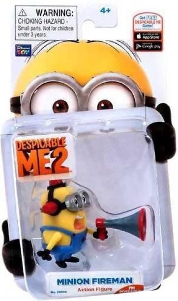 Thinkway Despicable Me 2 Minion Fireman W/ Bullhorn