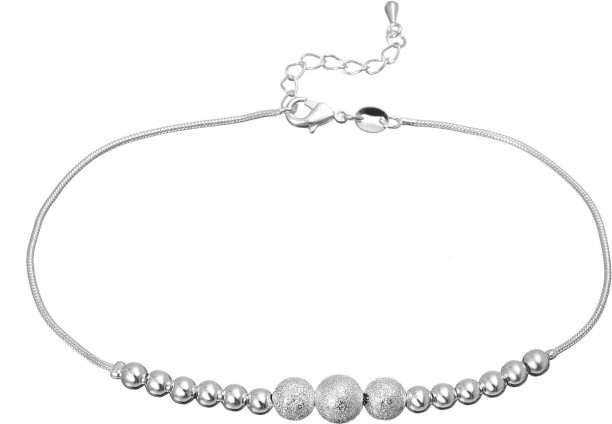 silver anklets buy anklets silver payal online at best prices in MT Casio's Syria silver shoppee sterling silver anklet