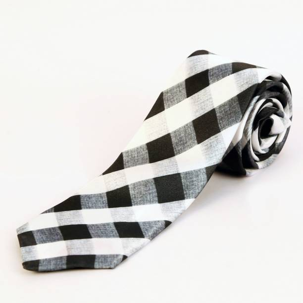 99ddcc898e44 Blacksmith Black And White Husk Checks Design Checkered Men's Tie