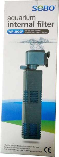 SOBO Aquarium Internal Filter WP-3000F (AC 220~240V | 50/60Hz Power:25W | F.MAX:1200L/Hr) Power Aquarium Filter