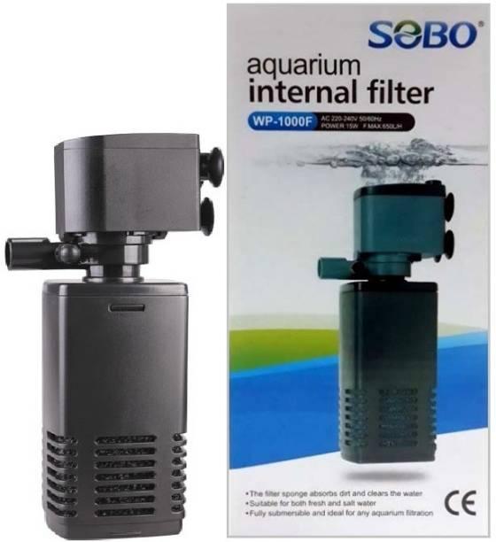 SOBO Aquarium Internal Filter WP-1000F (Power:-15W | F.MAX:650L/Hr) Power Aquarium Filter