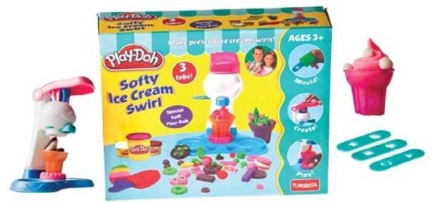 FUNSKOOL Play-Doh Softy Ice Cream Swirl