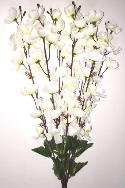 BriteNOVA White Orchids Artificial Flower