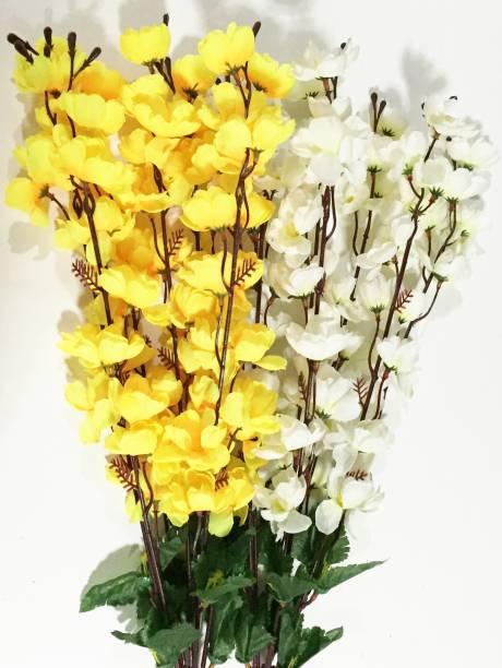 Artificial flowers buy artificial flowers online at best prices in britenova yellow white orchids artificial flower mightylinksfo