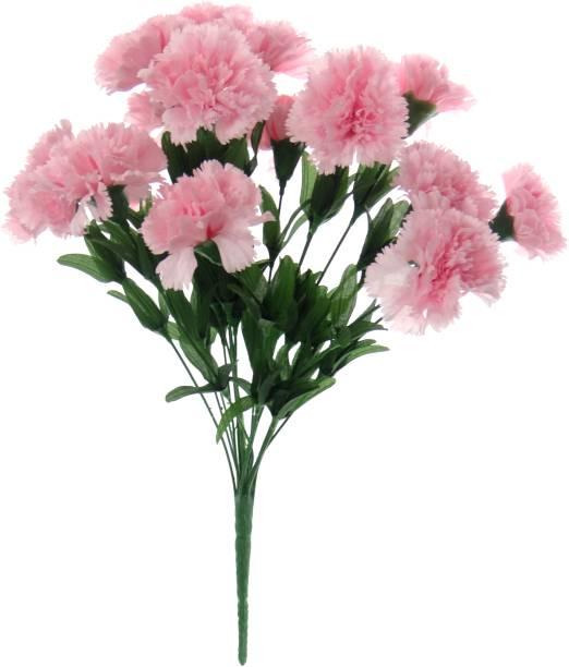 FOURWALLS Pink Carnations Artificial Flower