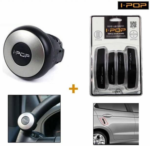 I-Pop 1 ipop mini power steering knob, 1 ipop black door guard Combo