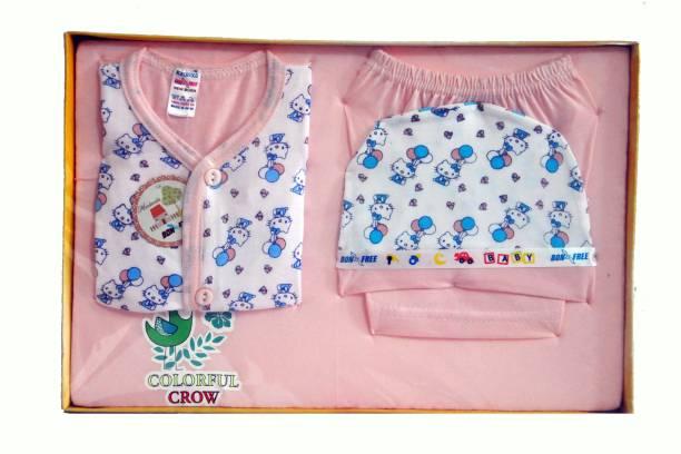 4a4a657c427 Bonfree BelleGirl 100% Cotton New Born Gift Set of 4 Pcs Premium Peach 0-