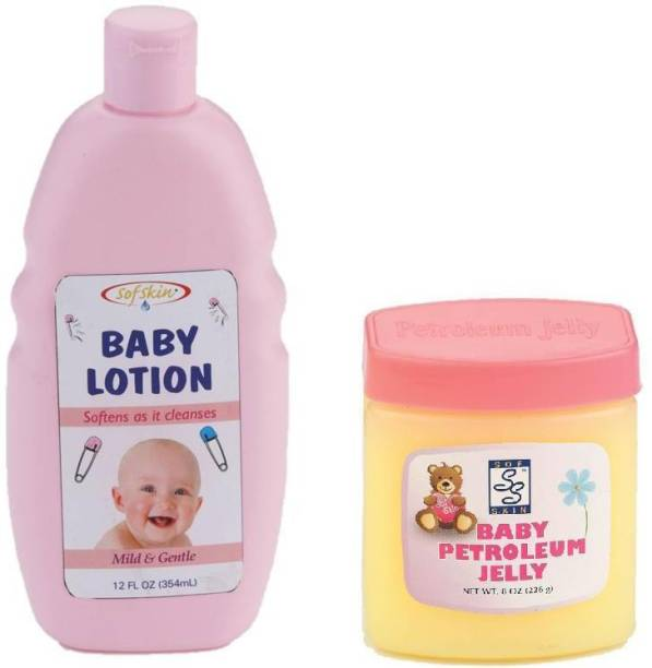 Sofskin Baby Lotion 350ml And Baby Jelly 226gm