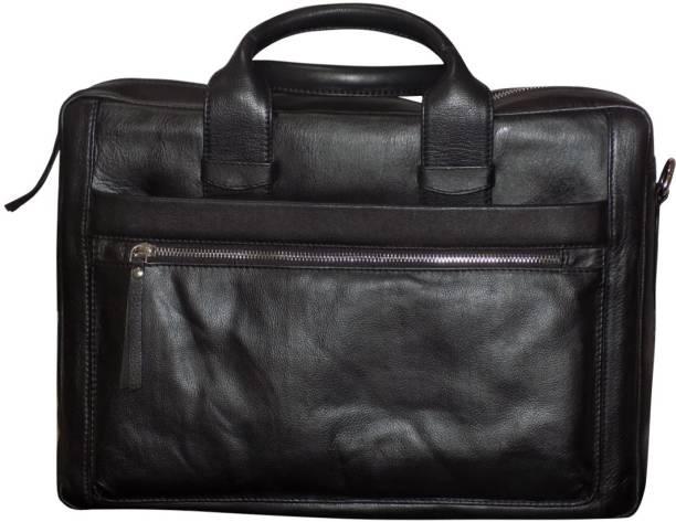 20ed028ec3a6 Kan Black Genuine Leather Backpack Messenger Bag For Men and Women 7 L  Laptop Backpack