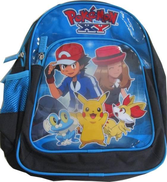 PoKeMoN Blue and Black Waterproof School Bag