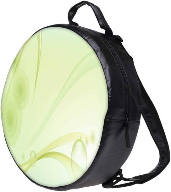 Snoogg Green Layered Design Bookbag Rounded Backpack Boys Girls Junior  School Bag Pe Shoulder Bag Lunch 78cad497a0a37