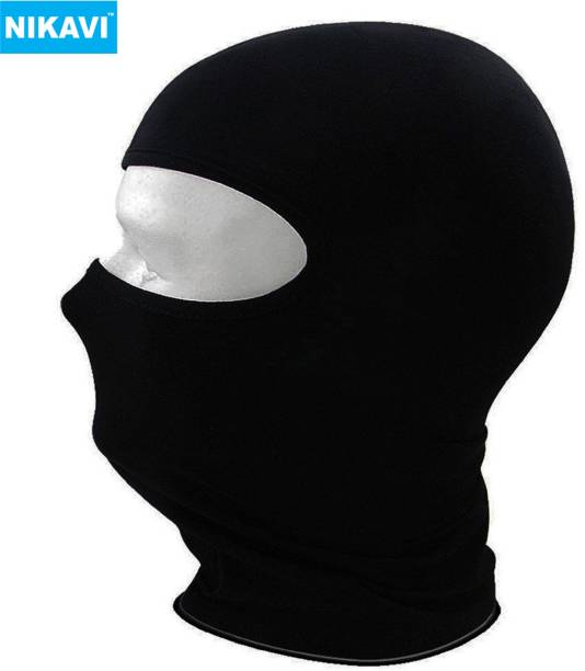 nikavi Black Bike Face Mask for Men & Women