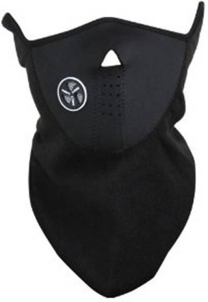MOTOTRANCE Black Bike Face Mask for Men