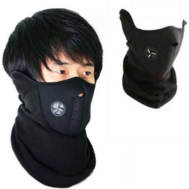 Psylane Black Bike Face Mask for Boys & Girls