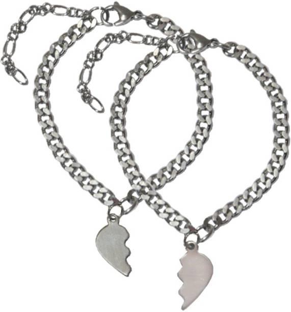Men Style Stainless Steel Bracelet Set