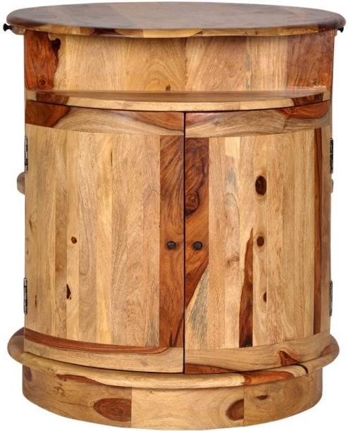 THE ATTIC Sheesham Wood Solid Wood Bar Cabinet