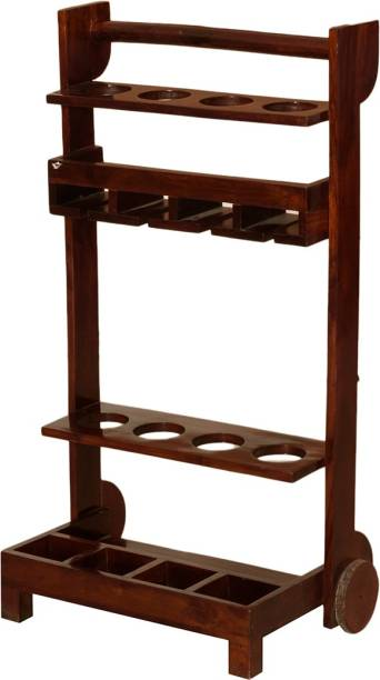Induscraft Sheesham Wood Solid Wood Bar Trolley