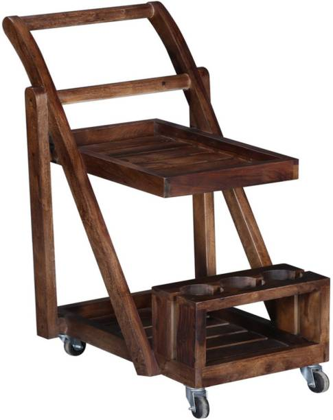 The Maker's Point Solid Wood Bar Trolley