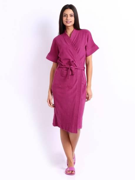 Superior Violet Free Size Bath Robe