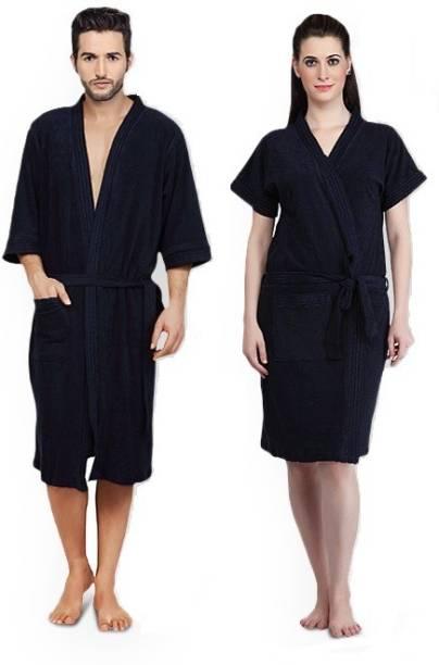 Superior Black Free Size Bath Robe