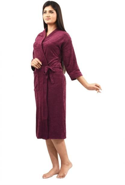 Superior Violet Free Size Bath Robe 6de893491