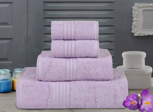 Bombay Dyeing Cotton 450 GSM Bath Hand Face Towel Set
