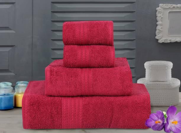 Bombay Dyeing Cotton 450 GSM Bath, Hand, Face Towel Set