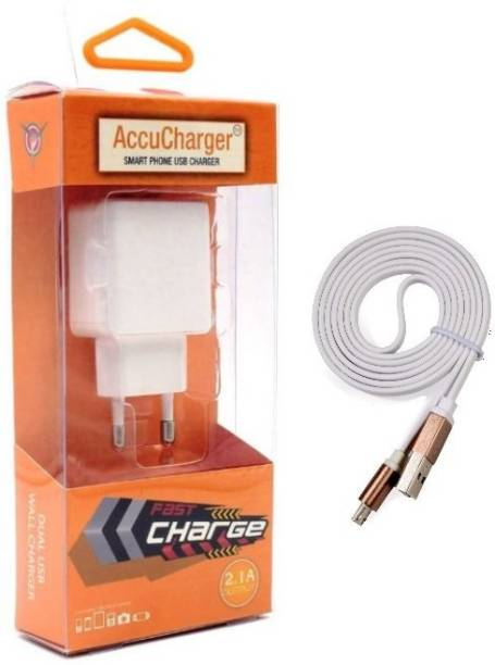 AccuCharger IIP-DCC-301 Dual USB Mobile Charger & Micro USB Cable Multiport Mobile Charger with Detachable Cable