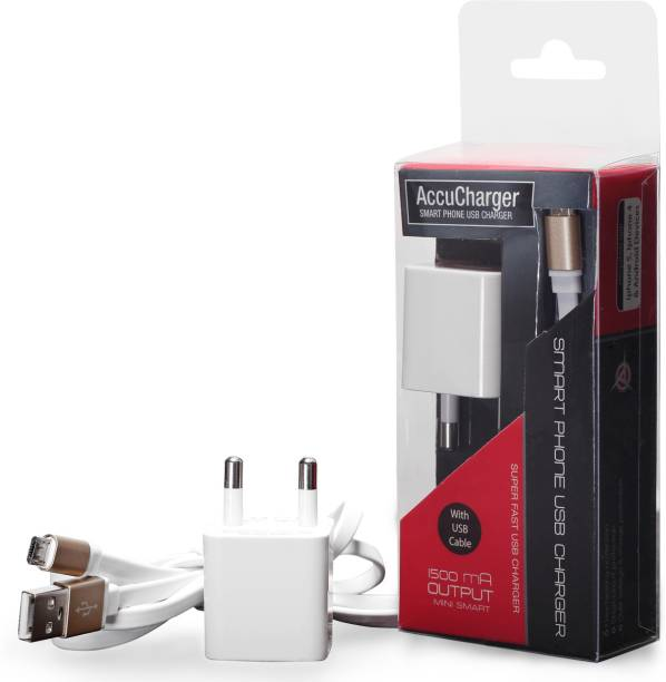 AccuCharger IIP-NSC-301 with High Speed Micro USB Cable Mobile 1 A Mobile Charger with Detachable Cable