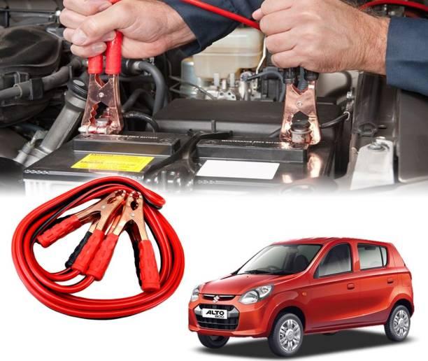 AUTO PEARL Car 500 Amp Heavy Duty Booster Anti Tangle Copper Core For - Maruti Suzuki Alto 800 7.5 ft Battery Jumper Cable