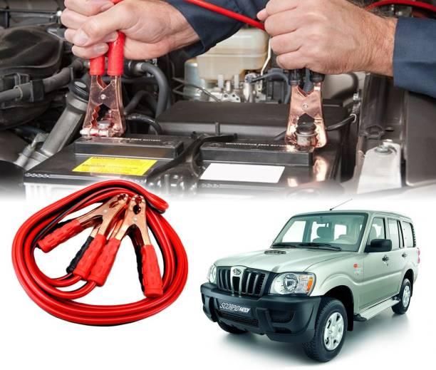 AUTO PEARL Car 500 Amp Heavy Duty Booster Anti Tangle Copper Core For - Mahindra Scorpio 7.5 ft Battery Jumper Cable