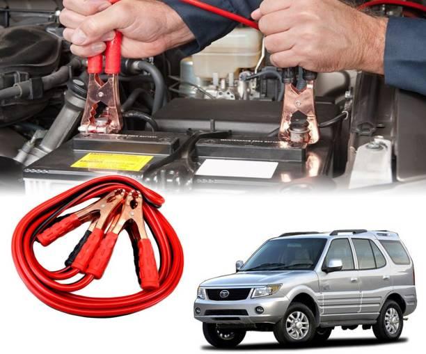 AUTO PEARL Car 500 Amp Heavy Duty Booster Anti Tangle Copper Core For - Tata Safari 7.5 ft Battery Jumper Cable