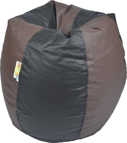Fun ON XXL Tear Drop Bean Bag Cover  Without Beans  Brown, Black