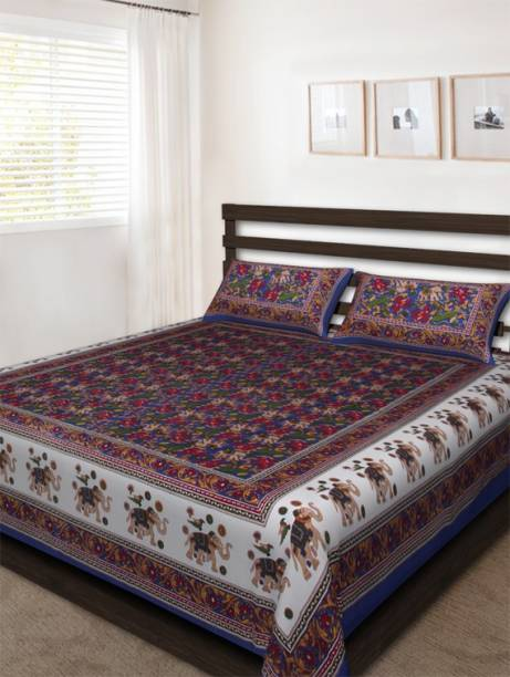Bombay Spreads 120 TC Cotton Double Printed Bedsheet